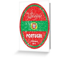 World Cup Football - Portugal Greeting Card