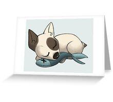 Sleepy Terrier Greeting Card