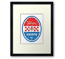 World Cup Football - Croatia Framed Print