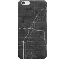Las Vegas, USA Map. (White on black) iPhone Case/Skin