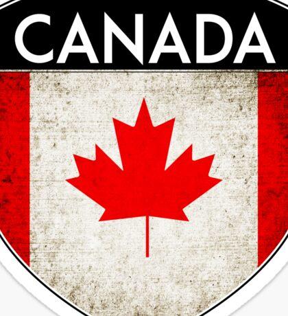 CANADA FLAG CREST BADGE EMBLEM GRUNGE Sticker