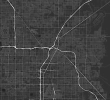 Las Vegas, USA Map. (White on black) by Graphical-Maps