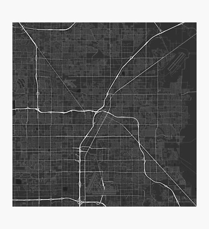 Las Vegas, USA Map. (White on black) Photographic Print