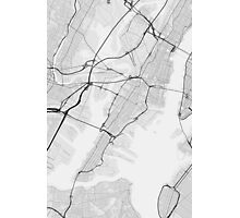 Jersey City, USA Map. (Black on white) Photographic Print