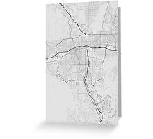 Reno, USA Map. (Black on white) Greeting Card