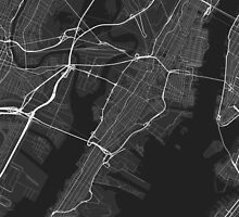 Jersey City, USA Map. (White on black) by Graphical-Maps