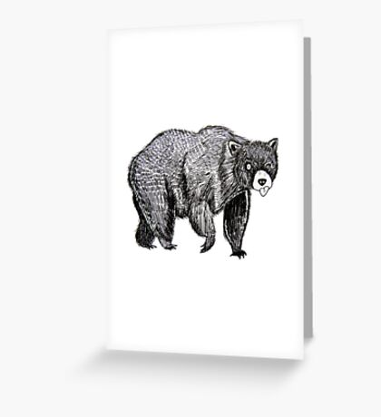 Silly Bear Greeting Card