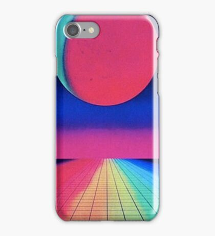 Vaporwave sunset rainbow iPhone Case/Skin