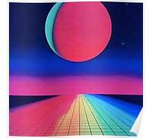 Vaporwave sunset rainbow Poster