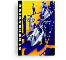 """NURBURGRING"" Vintage Grand Prix Auto Racing Print Canvas Print"
