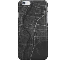 Albuquerque, USA Map. (White on black) iPhone Case/Skin