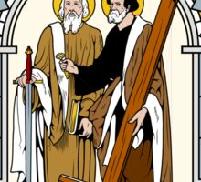 ST PETER AND ST PAUL under GLASS Sticker