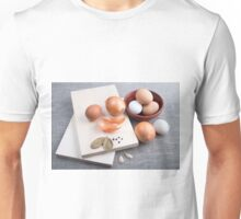 Raw ingredients for natural food in vintage style Unisex T-Shirt