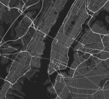 New York, USA Map. (White on black) Sticker