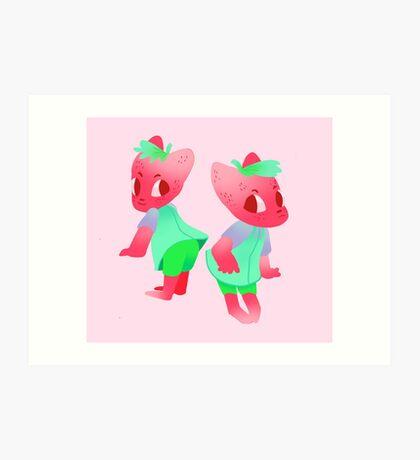 berry cat Art Print