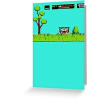 NES duck hunt dog game Greeting Card
