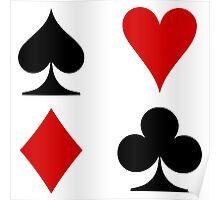 card symbols Poster