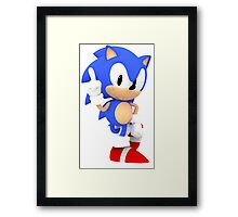 Sonic the Hedgehog - Polygon Framed Print