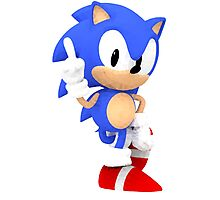 Sonic the Hedgehog - Polygon Photographic Print