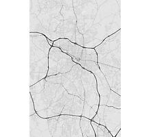 Durham, USA Map. (Black on white) Photographic Print
