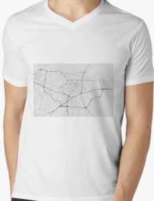 Greensboro, USA Map. (Black on white) Mens V-Neck T-Shirt