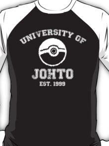 University of Johto - White Font T-Shirt