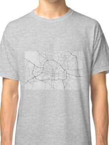 Raleigh, USA Map. (Black on white) Classic T-Shirt