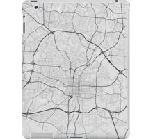Raleigh, USA Map. (Black on white) iPad Case/Skin