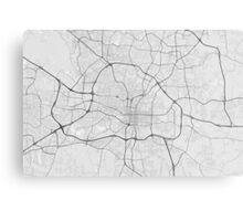 Raleigh, USA Map. (Black on white) Metal Print