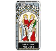 SAINTS SIMON AND JUDE under STAINED GLASS iPhone Case/Skin