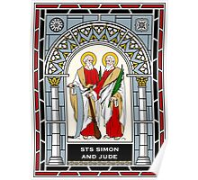 SAINTS SIMON AND JUDE under STAINED GLASS Poster