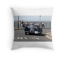 Black Vintage Car - West Kirby - July 2014 Throw Pillow