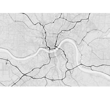 Cincinnati, USA Map. (Black on white) Photographic Print