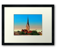 The village church of Allhaming I | architectural photography Framed Print