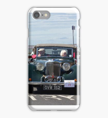 Green soft-topped Vintage Car - West Kirby, July 2014 iPhone Case/Skin