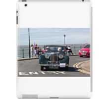 Green soft-topped Vintage Car - West Kirby, July 2014 iPad Case/Skin