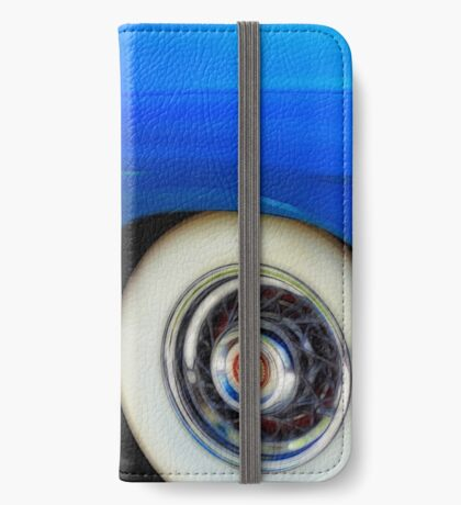 Classic Car Blue Cadillac - photography iPhone Wallet/Case/Skin