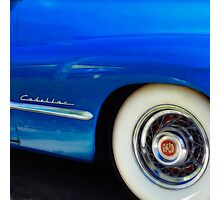 Classic Car Blue Cadillac - photography Photographic Print