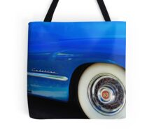 Classic Car Blue Cadillac - photography Tote Bag