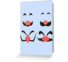 Face Of Greeting Card