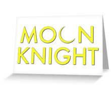 Moon Knight Comic Font Greeting Card