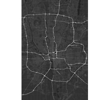 Columbus, USA Map. (White on black) Photographic Print