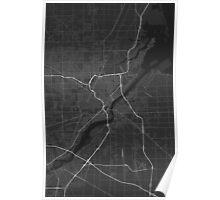 Toledo, USA Map. (White on black) Poster