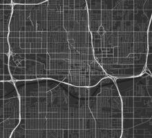 Oklahoma City, USA Map. (White on black) Sticker