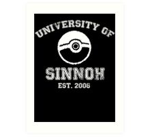 University of Sinnoh - White Font Art Print