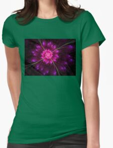 Flowering Eclipse Womens Fitted T-Shirt