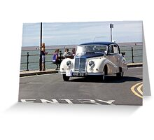 Vintage Car - White - West Kirby - July 2014 Greeting Card