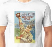 Babe Ruth Comes Home - 1927 Movie Poster Unisex T-Shirt