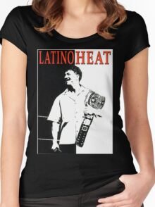 Latino Heat Scarface  Women's Fitted Scoop T-Shirt