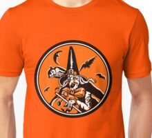Vintage Halloween Witch and Owl Illustration Poster Unisex T-Shirt